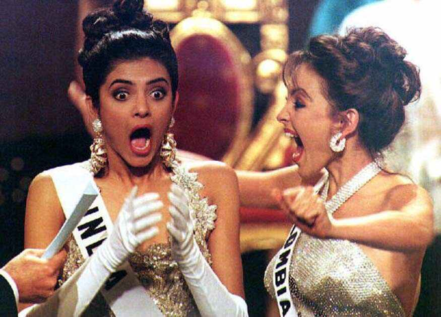 #Manila 21st May 1994 @thesushmitasen got the 1st @MissUniverse 👑 for 🇮🇳 defying conventional notions of beauty.Fresh in mind, the pagaent was telecast live on @DDNational there was mass euphoria, the 🇮🇳 media went crazy, 25 summers later, she remains an inspiration to many