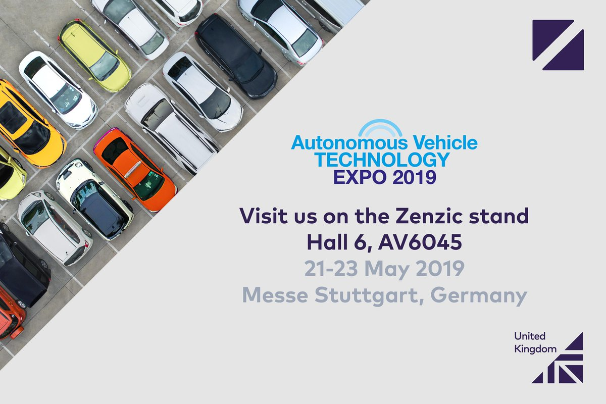 Our Connected and Autonomous Vehicle (#CAV) experts are participating in the Autonomous Vehicle Technology Expo. To learn more about our CAV capabilities visit the team on the @ZenzicUK stand - AV6045 in Hall 6. We look forward to seeing you! #Smarter #AVTExpo