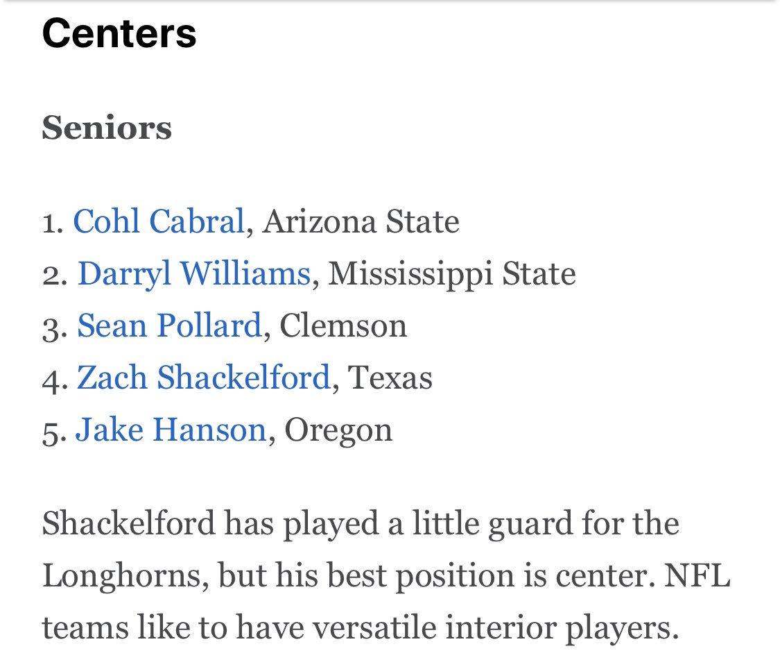 Best Centers In Nfl 2020 Brad Denny on Twitter: