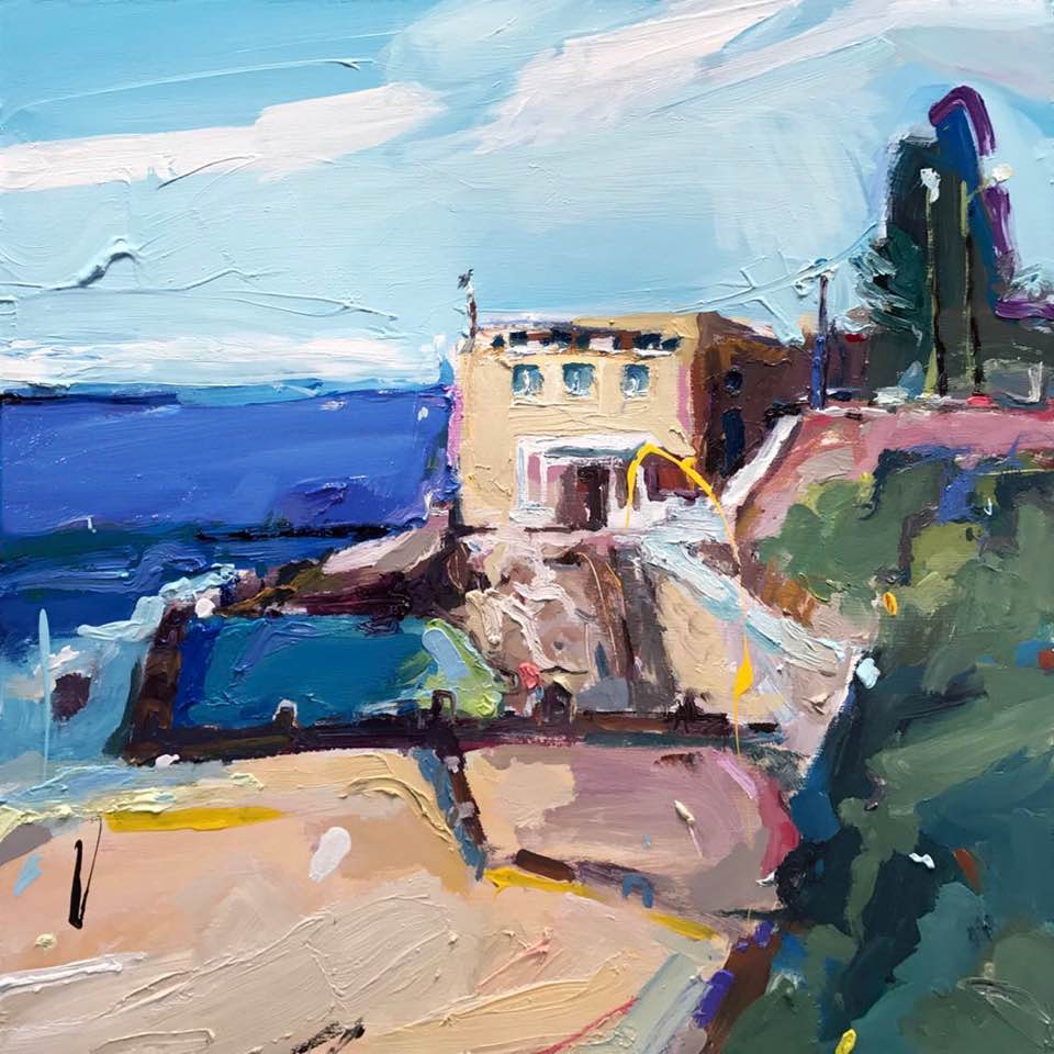 """""""Ocean Pool at Coogee"""", 61X61cm, oil on board. #paintingoftheday #artgallery #Coogee #sydneypic.twitter.com/tr3lyiZQBs"""