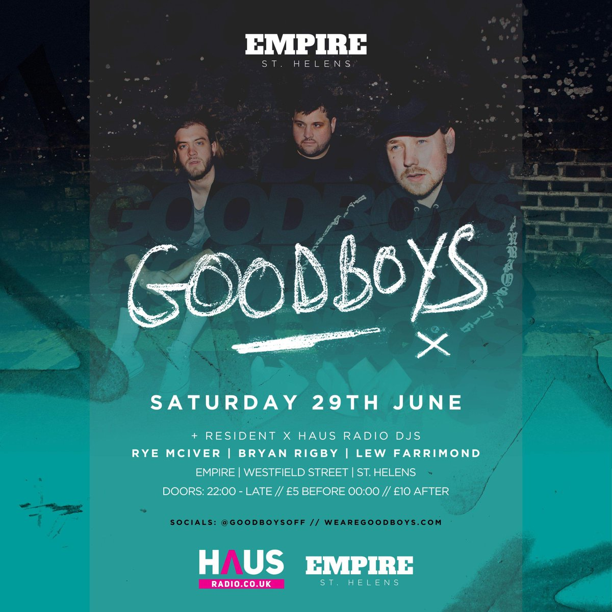 Goodboys live at Empire, St Helens!  Pre gig write up here:   Event info here:   . . . . . #empiresthelens #goodboys #meduza #pieceofyourheart #number1 #top40uk #music #event