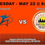 Image for the Tweet beginning: DETROIT VS LEGENDS WEDNESDAY MAY 22