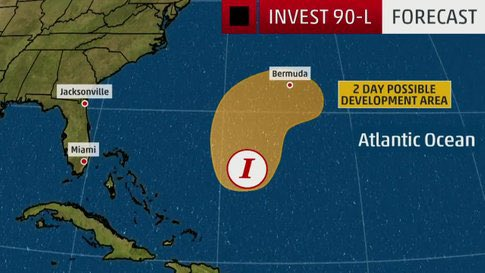 We&#39;re Watching an Invest That Could Affect Bermuda  From The Weather Channel iPhone App <br>http://pic.twitter.com/vtH54fJZ9L