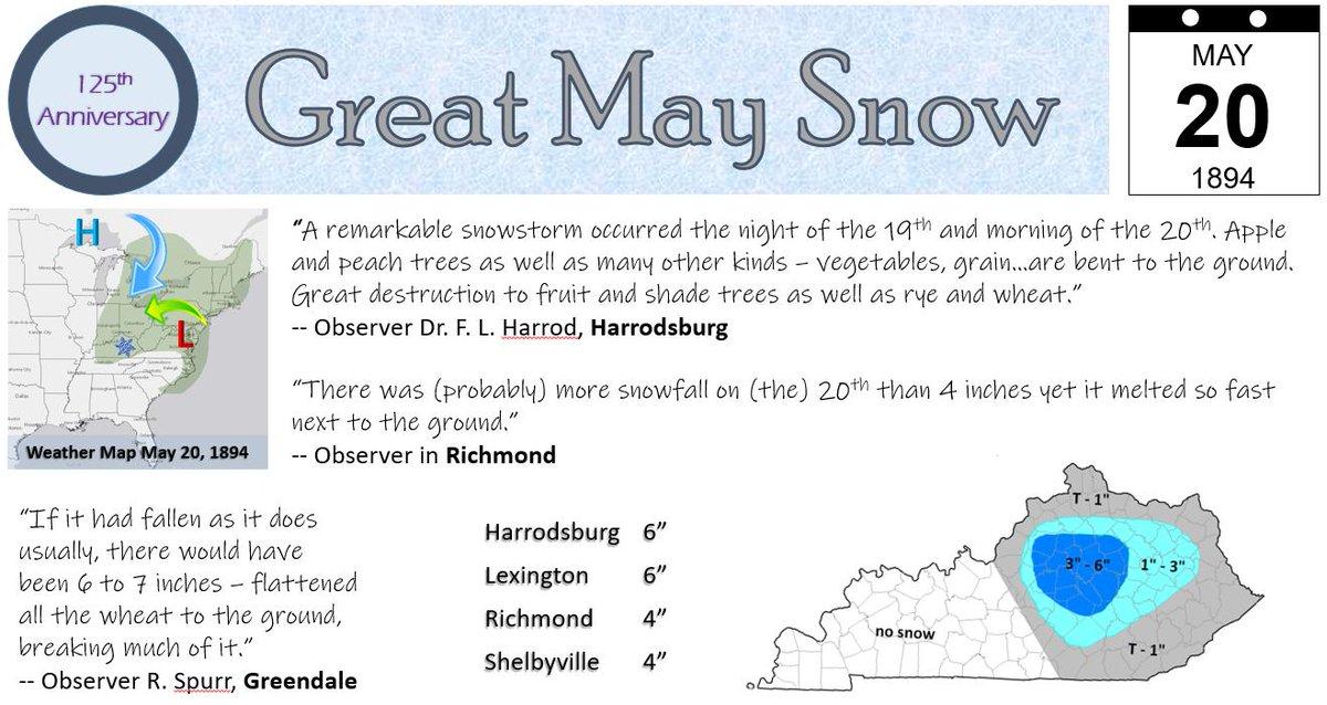 5/20/1894:  Up to half a foot of snow fell on Kentucky's Blue Grass. #lmkwx #kywx