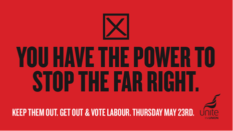 Get out and vote this Thursday for @UKLabour @unitetheunion