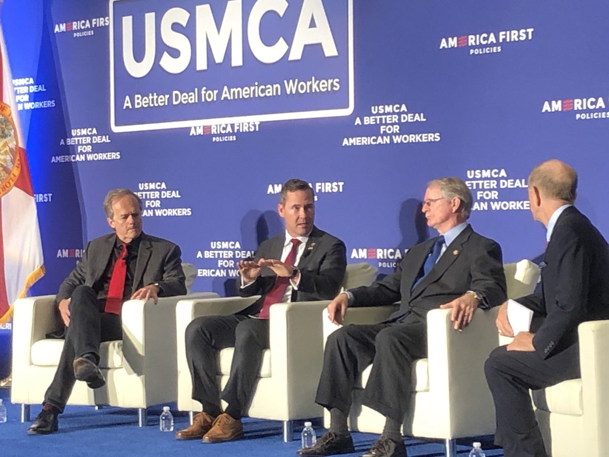 Speaking now in Jacksonville about the #USMCA. @SpeakerPelosi needs to bring this to the House floor for a vote, especially now when we need to strengthen our hand against China.