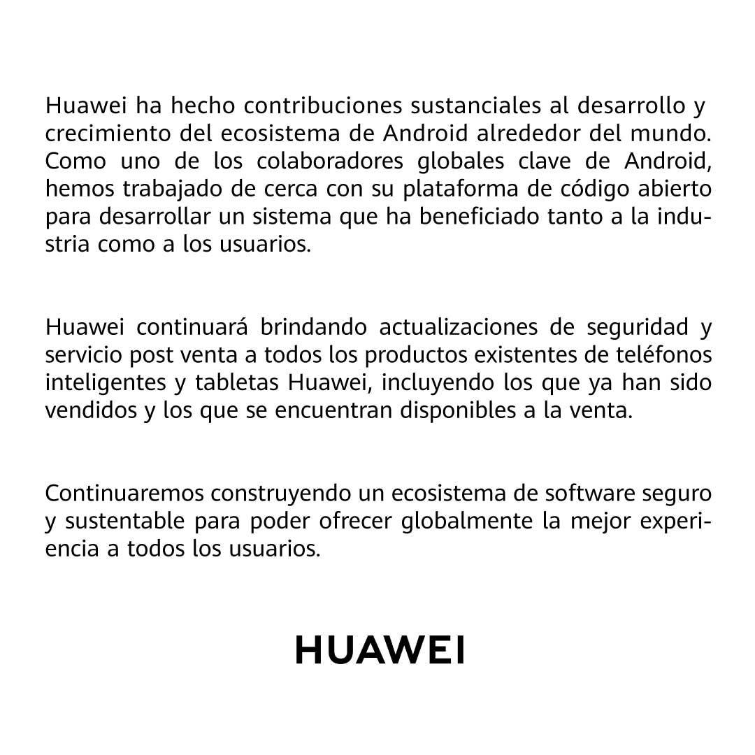 Comunicado para todos nuestros usuarios Huawei en Colombia.