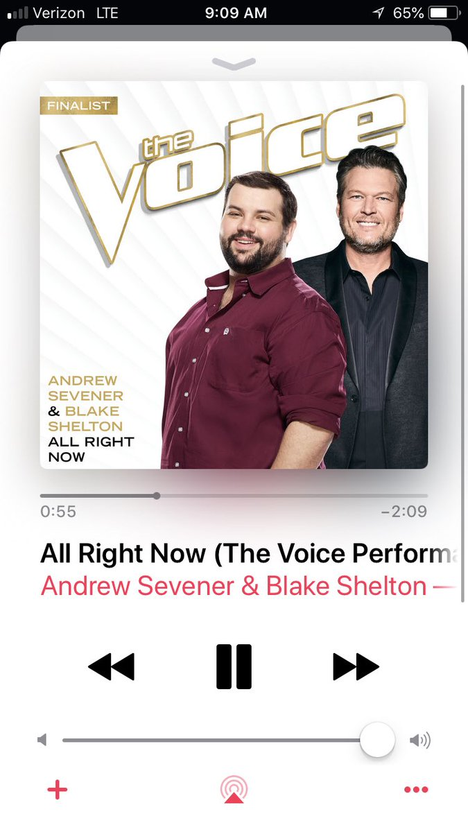 "Y'all!! They're here!! My new original ""Rural Route Raisin"", my cover ""Lips Of An Angel"" and my duet with my awesome coach @blakeshelton ""All Right Now""! Go stream, and let me know what y'all think! <br>http://pic.twitter.com/evULWf2Rl7"