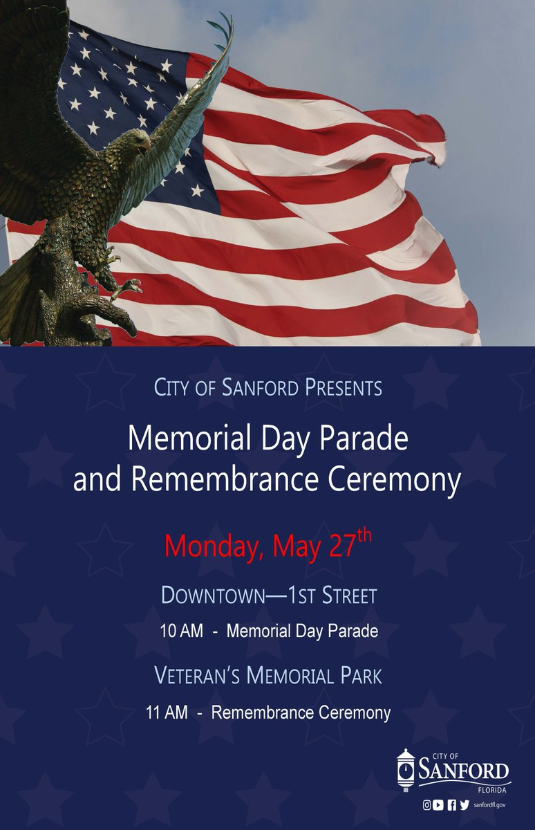 City Of Sanford On Twitter On Memorial Day May 27 In Downtown