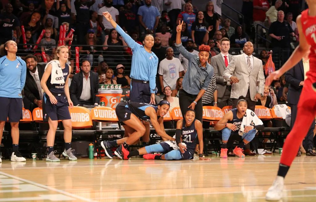 It's almost time for the @AtlantaDream season opener against the @DallasWings!  Spend more time cheering and less time waiting in traffic when you stay with us and walk to @StateFarmArena, just blocks away. #DreamOn #WNBA  📷: Atlanta Dream