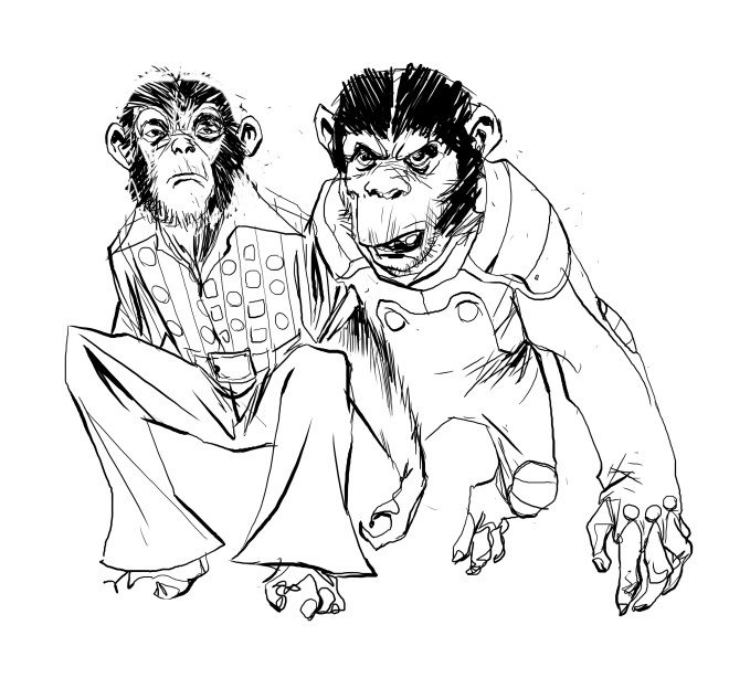 It's #MonkeyMonday and this is @a_ponticelli's design of Snifer, from BRONZE AGE BOOGIE. You're welcome.