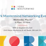 Image for the Tweet beginning: Wed's @YorkMastermind features a talk