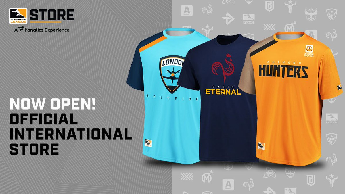 The international Overwatch League Store IS HERE! #OWL2019 REP YOUR TEAM: bit.ly/2J2uqQf