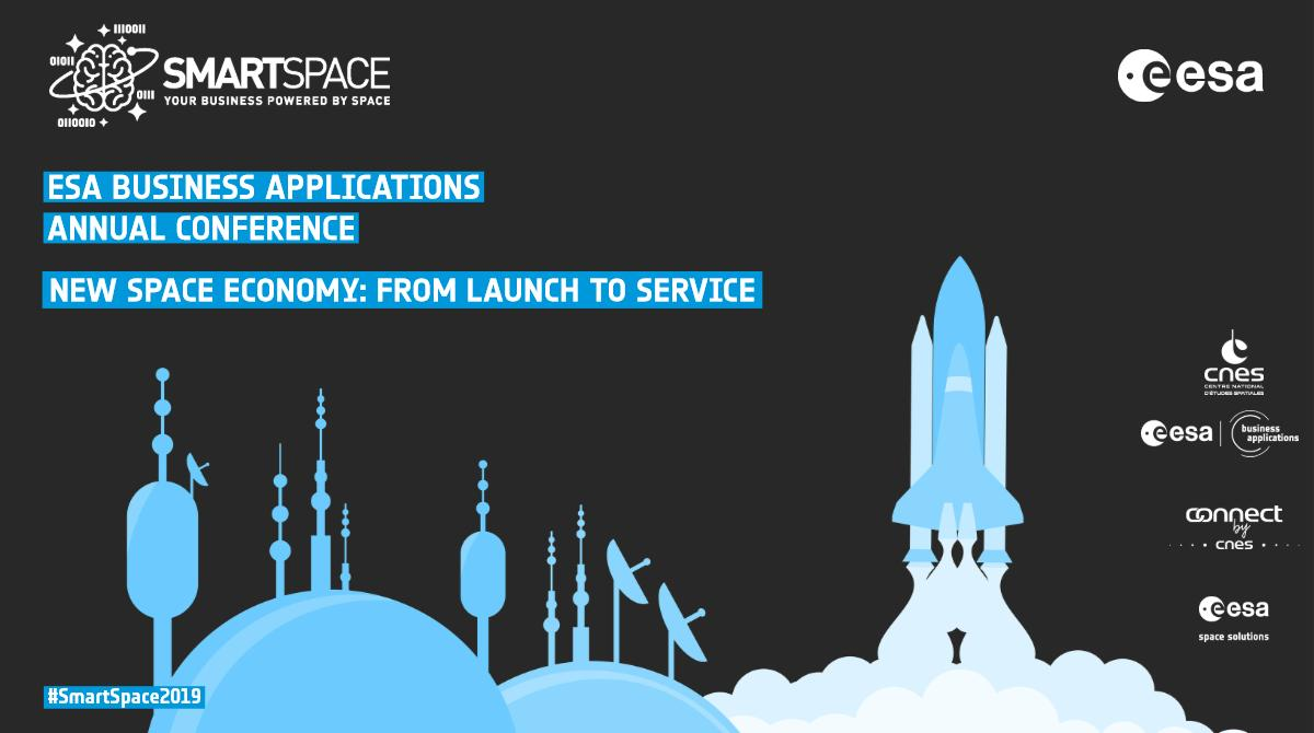 Join us for our annual conference #SmartSpace2019 in #Toulouse from 3rd-5th June and hear about developments in the #NewSpace landscape 🚀 From launching a #satellite to designing a #service! 🛰 ow.ly/STRq30oBWQe #Innovation #Technology