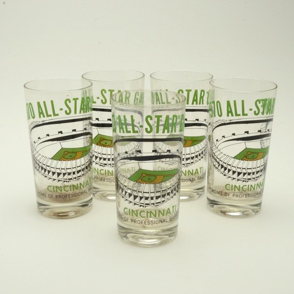 These #Reds All-Star Game glasses are ridiculously cool