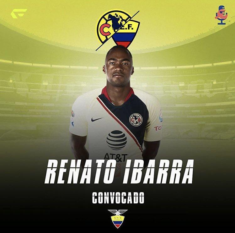 ¡ÚLTIMO MOMENTO!Renato Ibarra es convocado por Ecuador para disputar la Copa América.
