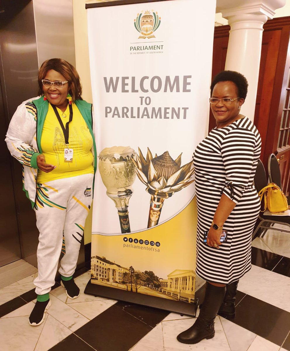 The 6th ANC Caucus will be led by these two phenomenal women: Cde Pemmy Majodina (Chief Whip) and Cde Doris Dlakude (Deputy Chief Whip) 🖤💚💛