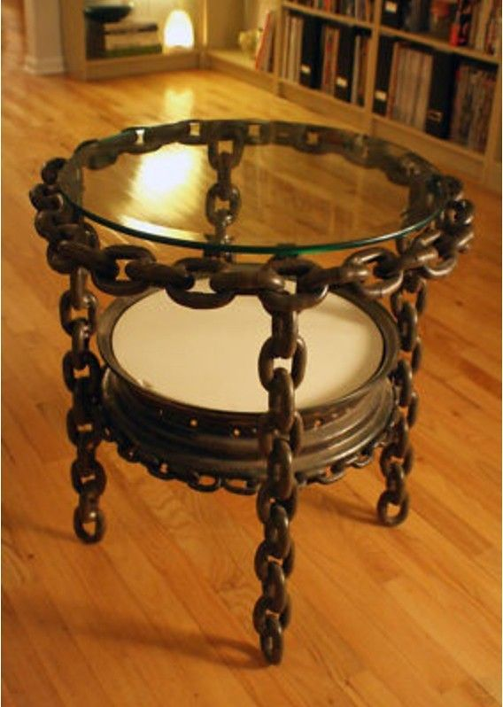 Chain link coffee table - http://steamp.co/d/1668   #table #hotel