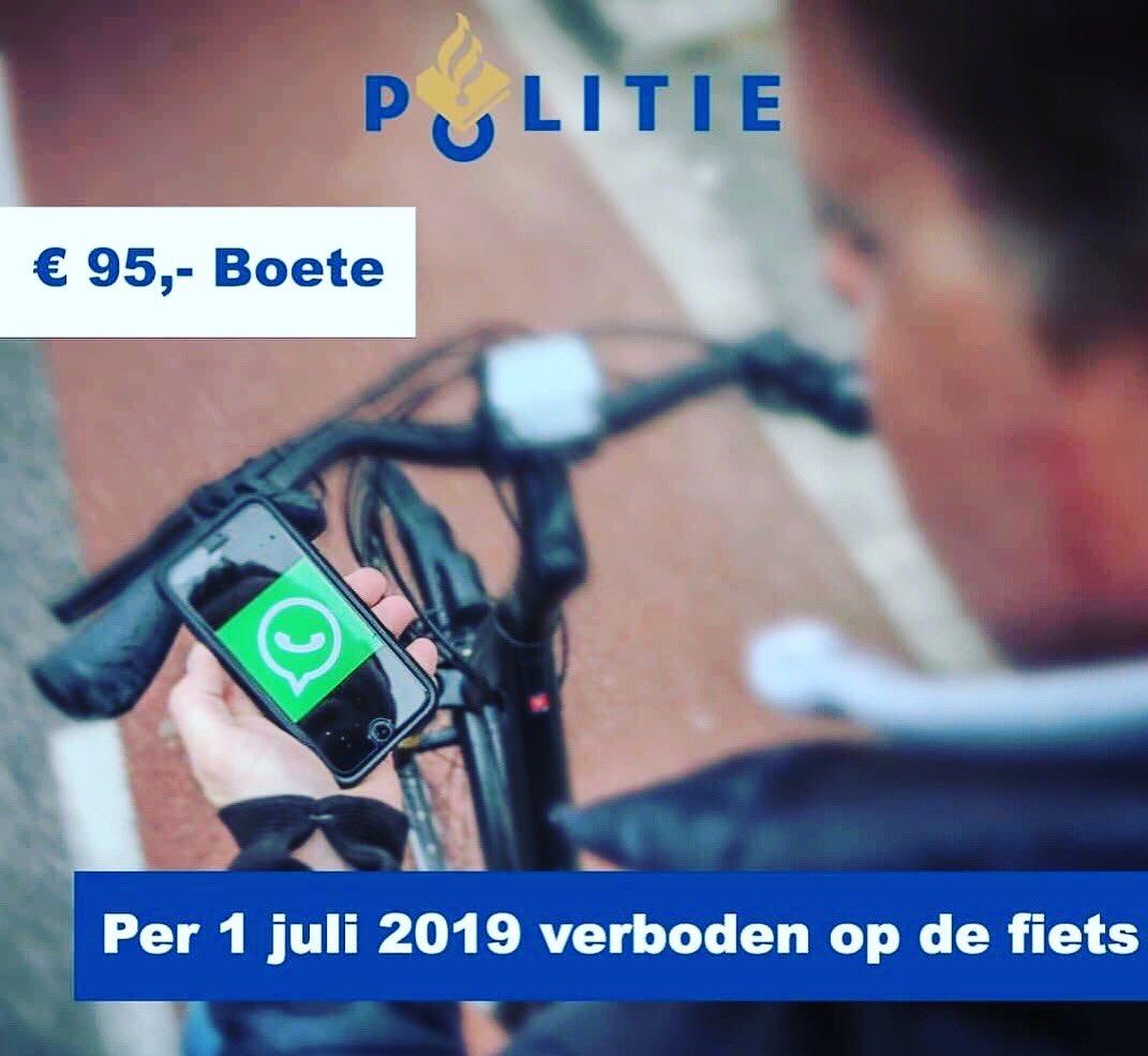 test Twitter Media - 🚴🏼♂️📱❌ Vanaf 1 juli 2019 mag u geen mobiele telefoon meer vasthouden tijdens het fietsen. Het verbod geldt voor alle mobiele elektronische apparaten voor communicatie- en informatieverwerking. Dus ook voor muziekspelers. De boete is 95 euro. https://t.co/KWEgnRyaGy