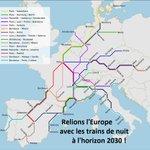 Image for the Tweet beginning: Relions l'Europe par les #trainsdenuit🚃🌕! 👉Connectons