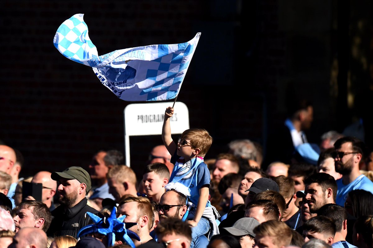 🔵 @ManCity fans young and old are lining the streets to celebrate their teams amazing season