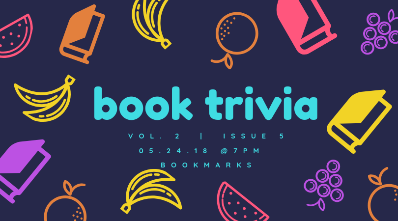 Join us for #BookTrivia in the bookstore this Friday, May 24th at 7pm!