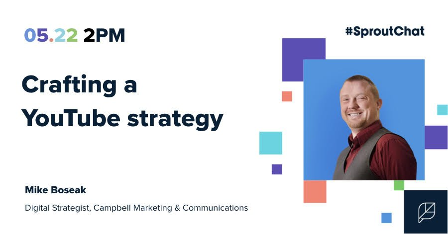 Looking for tips on your #YouTube strategy? Our own social media and digital content strategist, Mike Boseak, is making an appearance on #SpoutChat to discuss how brands can approach this branch of their digital presence. Tune in Wednesday at 2 p.m. ET! https://sproutsocial.com/sproutchat