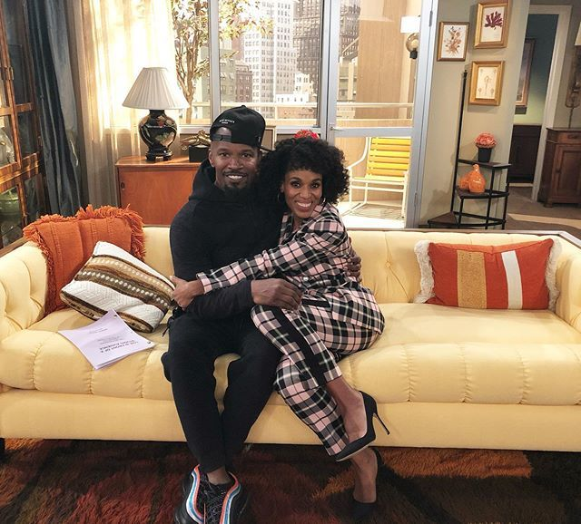 Me and my movie huzbin making some TV history!!!!!! #BTS REHEARSAL #liveinfrontofastudioaudience TUNE IN WEDNESDAY NIGHT ON ABC. LIVE!!!!!!!!!!!!!!! http://bit.ly/2YDQhCg