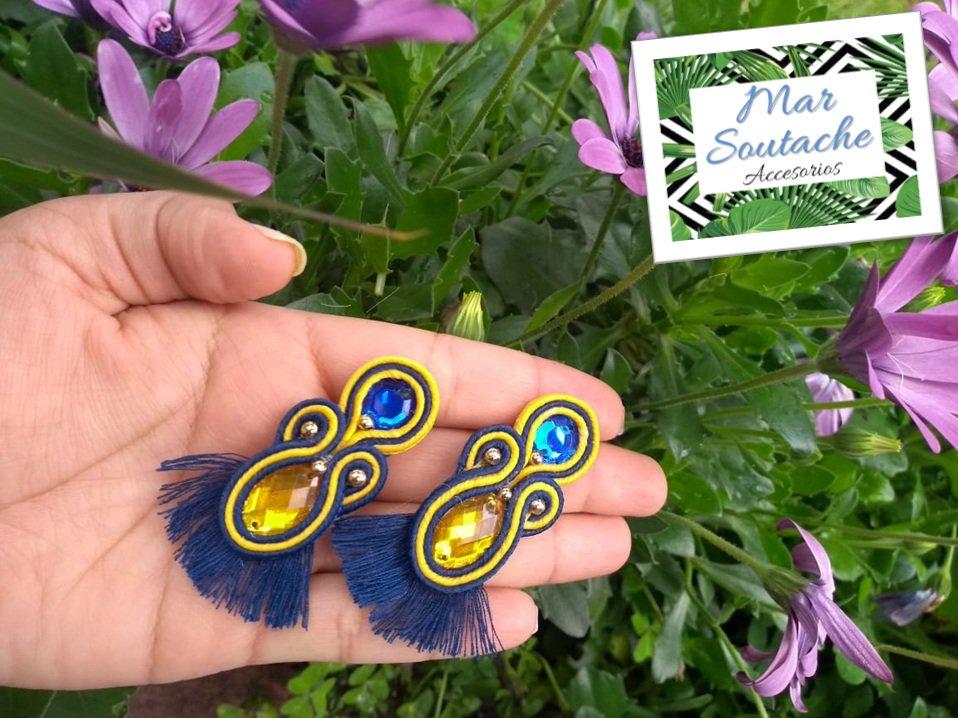 Combinación perfecta, agua y tierra. ¡¡¡Pidelos personalizados con tus colores favoritos!!! #soutache #soutachecolombia #handmade #accesoriosbogota #soutachebogota #hechoamano #madeincolombia #moda #soutachelove #locasporelsoutache #artesaniascolombianas #emprendedores