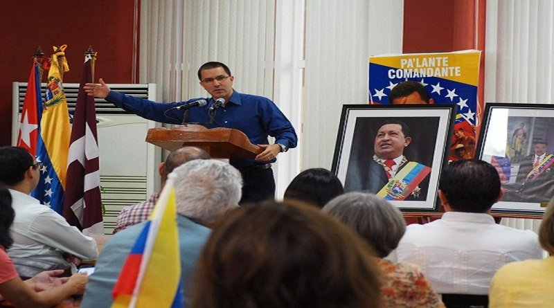 Canciller Arreaza: Correlación de fuerzas en América Latina volverá a los pueblos bit.ly/2WVnCIt #1añoDeVictoriaPopular