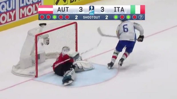 Italy avoids relegation at the #IIHFWorlds with a beautiful shootout-winner. VIDEO @ https://t.co/07VgpbPiBX https://t.co/72C8omyvkZ