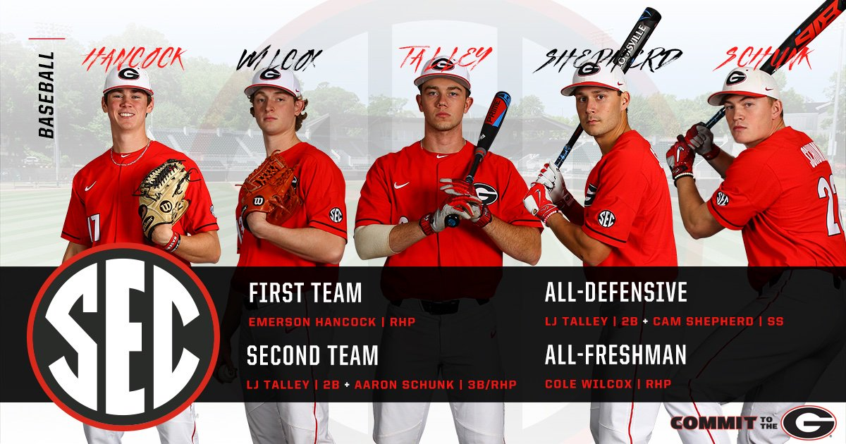 Congrats to our All-SEC Dawgs as voted on by the league coaches. #GoDawgs