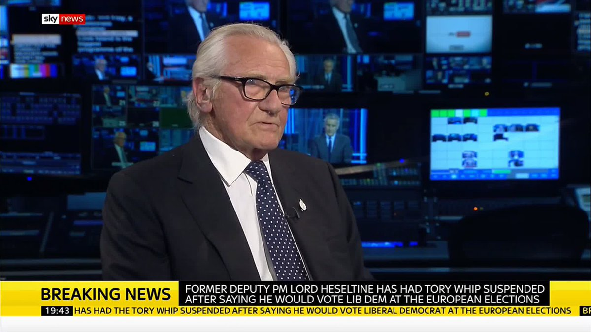They can take away the whip but they cant take away my integrity... Lord Heseltine says he wouldnt sacrifice his own judgement for the sake of Britains self interest. Read more on this #breakingnews story here: po.st/FoqhMb