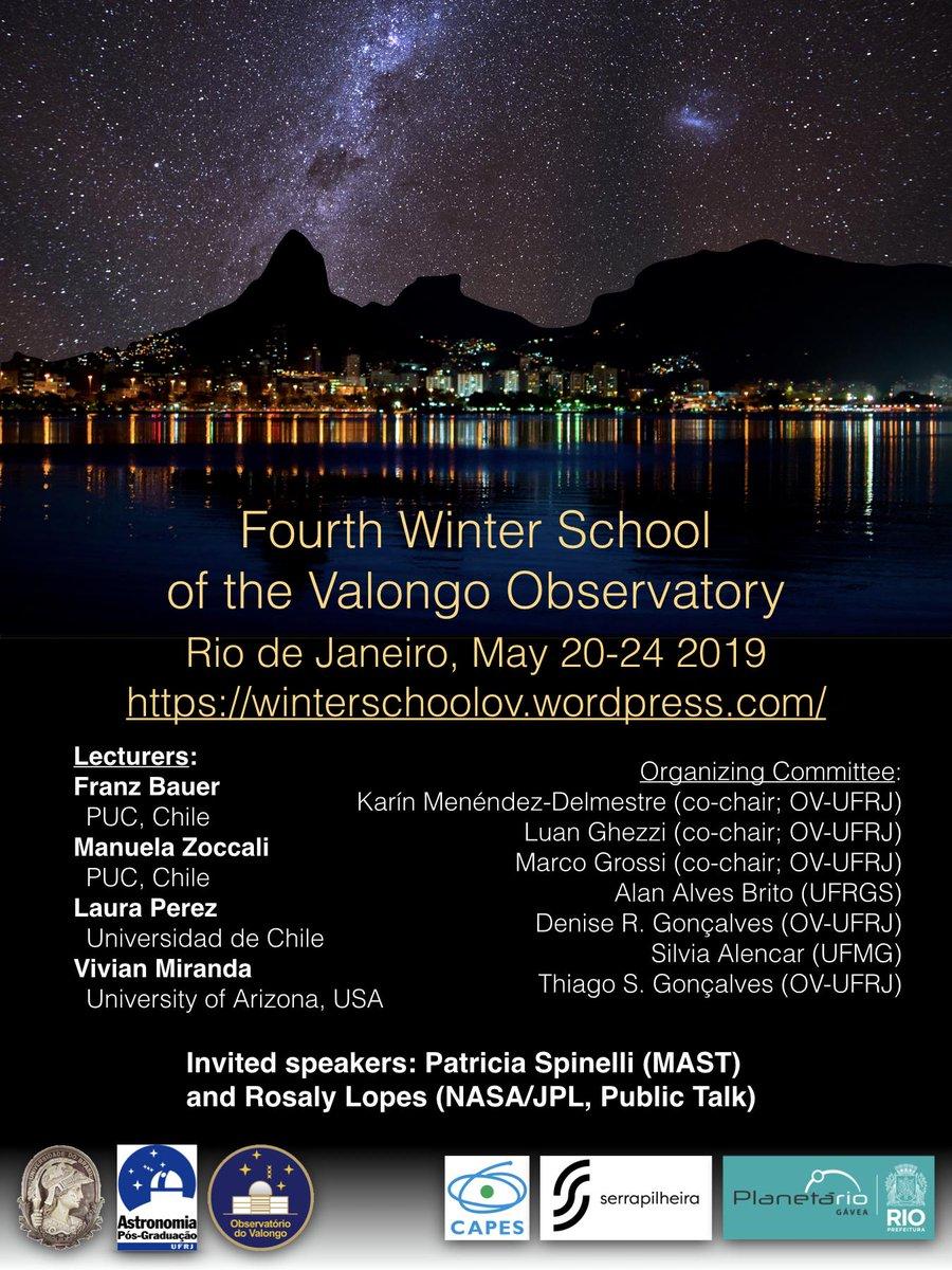 Começou hoje a 4a Escola de Inverno do Observatório do Valongo, no @PlanetarioDoRio! Ao longo da semana, teremos palestrantes de instituições nacionais internacionais apresentando palestras sobre variadas áreas de pesquisa!Acompanhe a hashtag #ValongoWS4 para ficar por dentro!