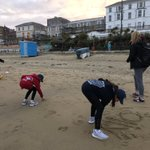 Beach games before bed!