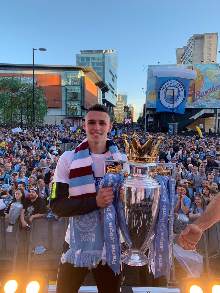Painting Manchester blue 🏆   Unbelievable support today!   #Champions