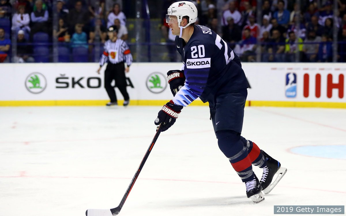 """""""Any time you get to wear this jersey, it's special.""""  Overcoming injury and a full @NHL season, @rsuter20 is helping to lead #TeamUSA in his 14th major tournament for @usahockey.   http://go.teamusa.org/RSuter520 