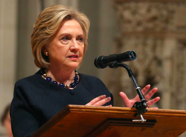 Hillary delivers the eulogy at a memorial service for the late congresswoman and diplomat, Ellen Tauscher, today at the Washington National Cathedral in Washington, DC. <br>http://pic.twitter.com/sMaRkbr7Nk
