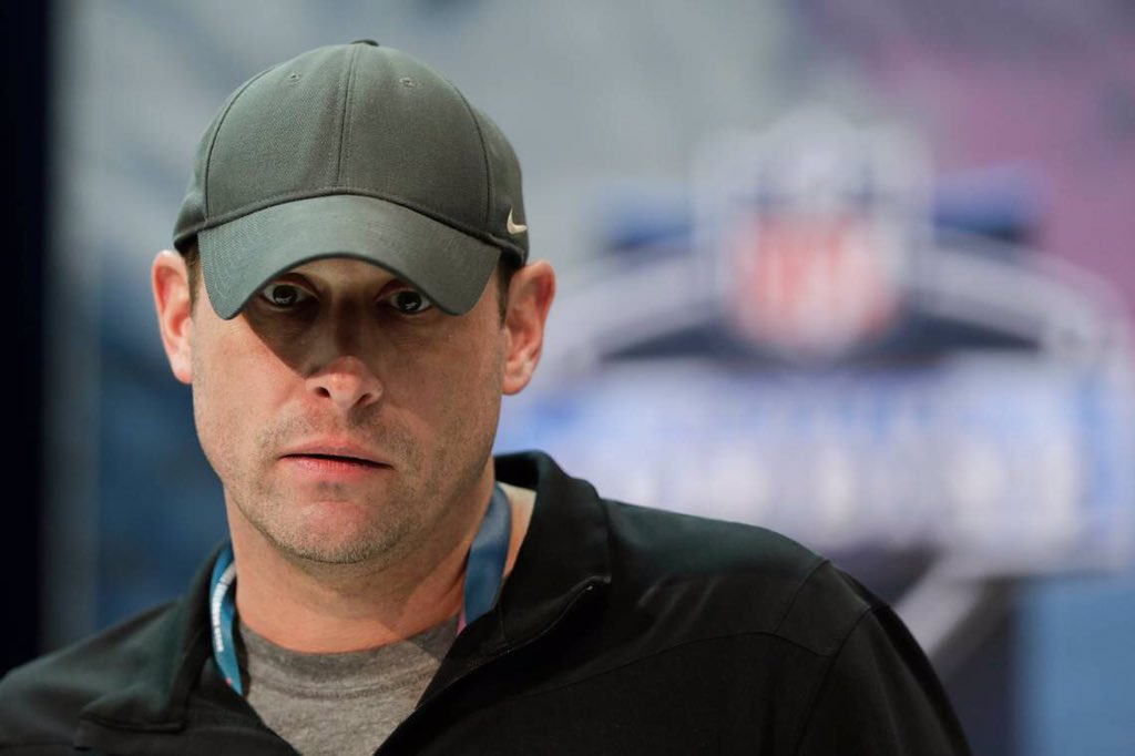 """Jets HC/GM Adam Gase """"surprised"""" about Mike Maccagnan's firing... denies power struggle: """"In this business, shit like that happens all the time."""" Story: nydailynews.com/sports/footbal…"""