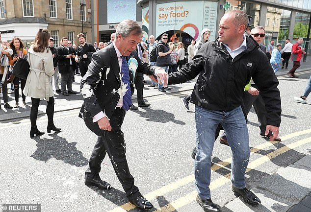 Throwing milkshakes over @Nigel_Farage is pathetic & will make him even more popular. The left in the UK, as in the US, are now experts at little else but political self-harm.