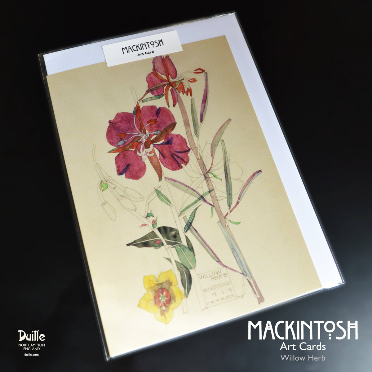 For #RHSChelsea2019 Willow Herb. Charles Rennie Mackintosh. 1919. Available now > duille.com/willowherb #RHSChelseaFlowerShow #RHSChelsea