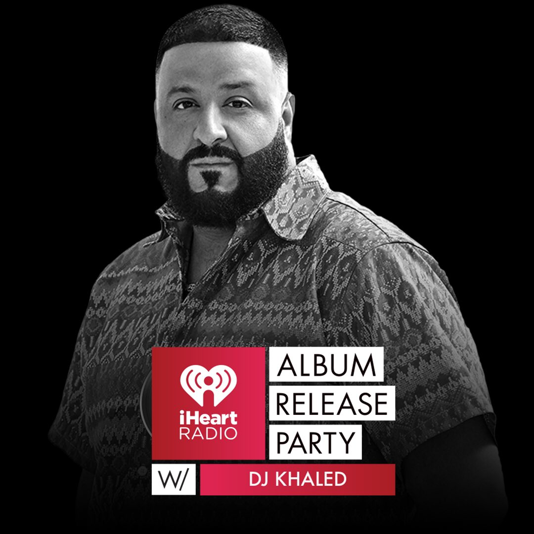 #FANLUV!!! Come celebrate my @iHeartRadio Album Release Party tonight. Doors open at 9pm! The first few lucky winners who email iheartdjkhaled@gmail.com will be on my guest list! #iHeartDJKhaled