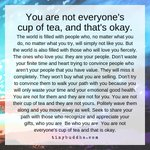 Image for the Tweet beginning: You are not everyone's cup