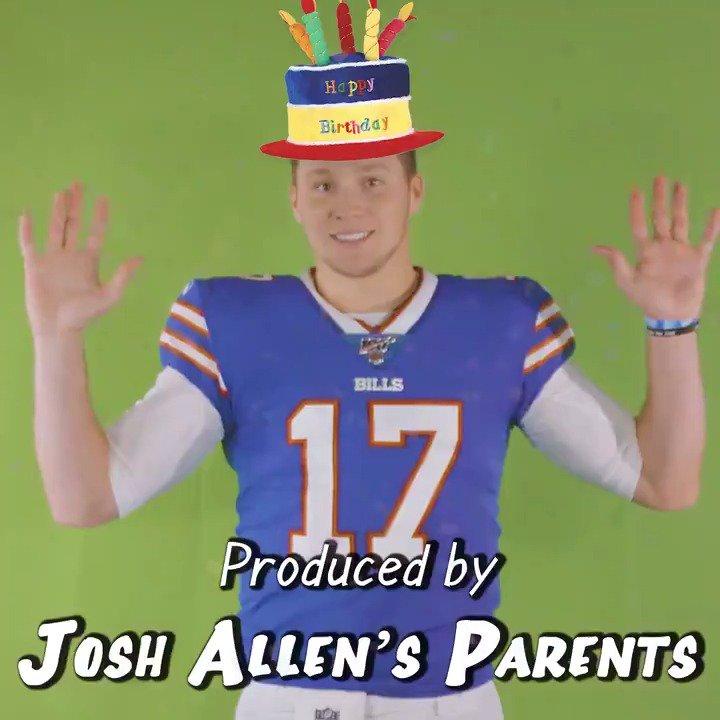 🎂    🎂🎂🎂 🎂           🎂 🎂          🎂 🎂        🎂  Retweet to wish @JoshAllenQB a happy birthday!