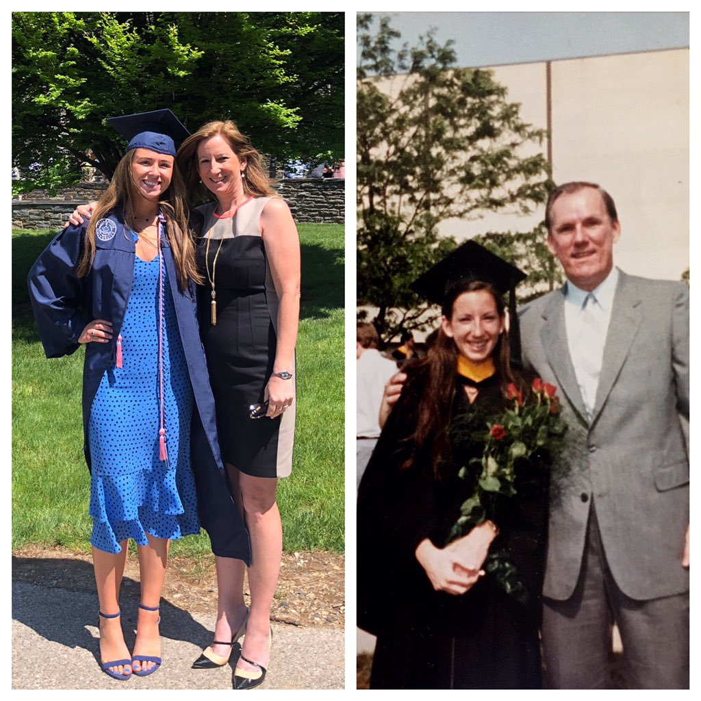 33 years after my graduation, so proud of my daughter as my dad was of me! 🏀🥍