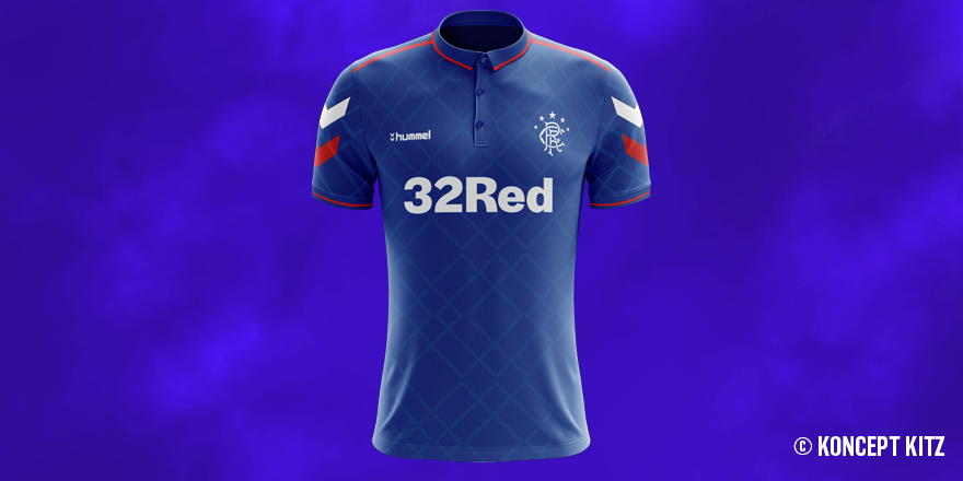 Even though they've launched their kit for next year, we've created a Hummel @RangersFC concept 😀 #RangersFC #Rangers #RangersFamily #Glasgow