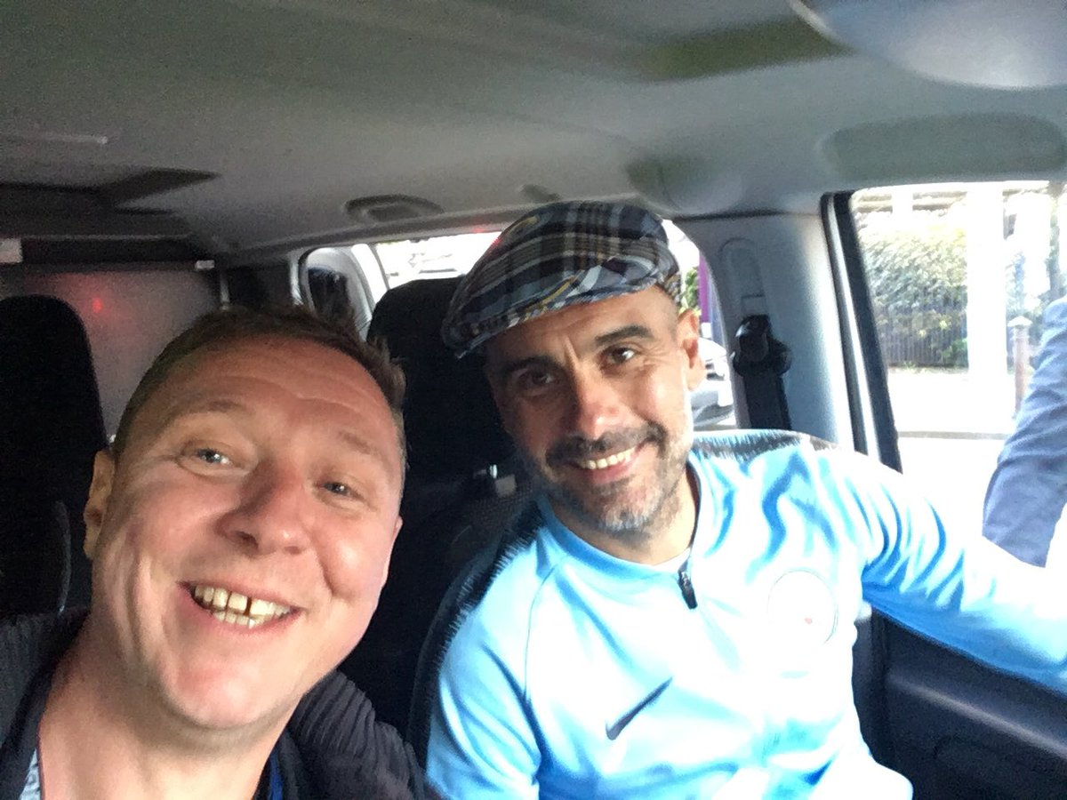 Top day at the parade. Not every day pep asks ya for a lift home #MCFC #MANCITY #PARADE