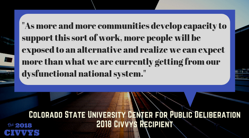 The nomination period for the 2019 #Civvys is officially open! Here's an inspiring thought from last year's winner, @CSUCPD. #WednesdayWisdom