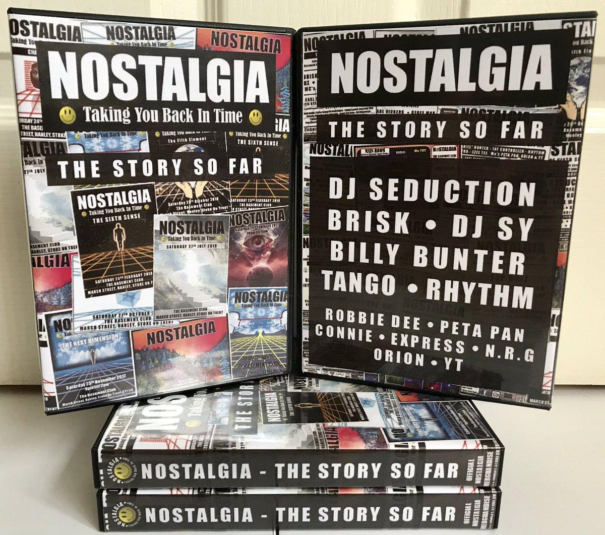 Nostalgia - The Story So Far..  £20 delivered  #nostalgia #rave #oldskool #cdpack #djseduction #djbrisk #djsy #billybunter #tango #djrhythm #retro #memorabilia #robbiedee #petapan #connie #support #merchandise #techno #story #buy #purchase #payday #flyer #poster #flyers #hardcore