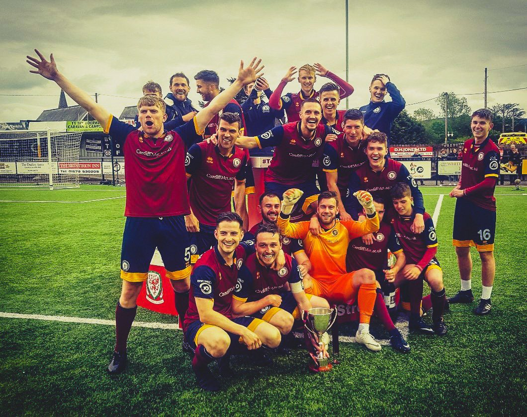 @CardiffMet University have qualified for the @EuropaLeague for the first time in their history.   They won a penalty shoot-out vs Bala Town at Maes Tegid on Sunday.  They are now in the preliminary round drawn and won €220,000 in prize money.   Fantastic Achievement. <br>http://pic.twitter.com/Gu0LfEB4CB